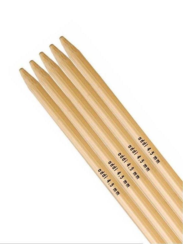 Addi agujas de tejer de bambú de doble punta 15cm 6in