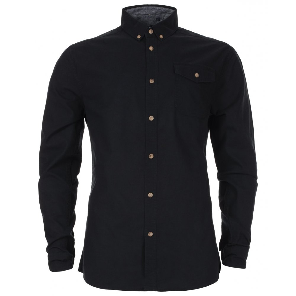 Mens Black Oxford Shirt