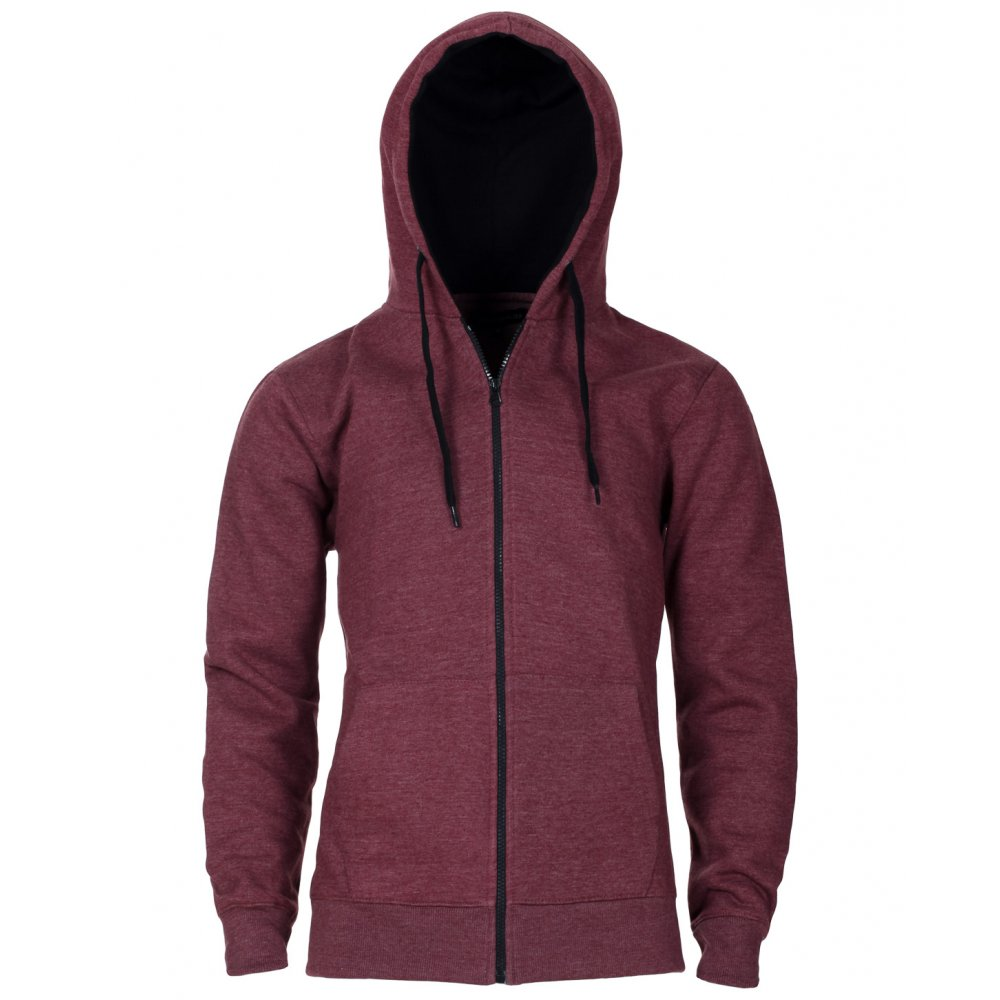 Burgundy Zip Up Hoodie - Trendy Clothes