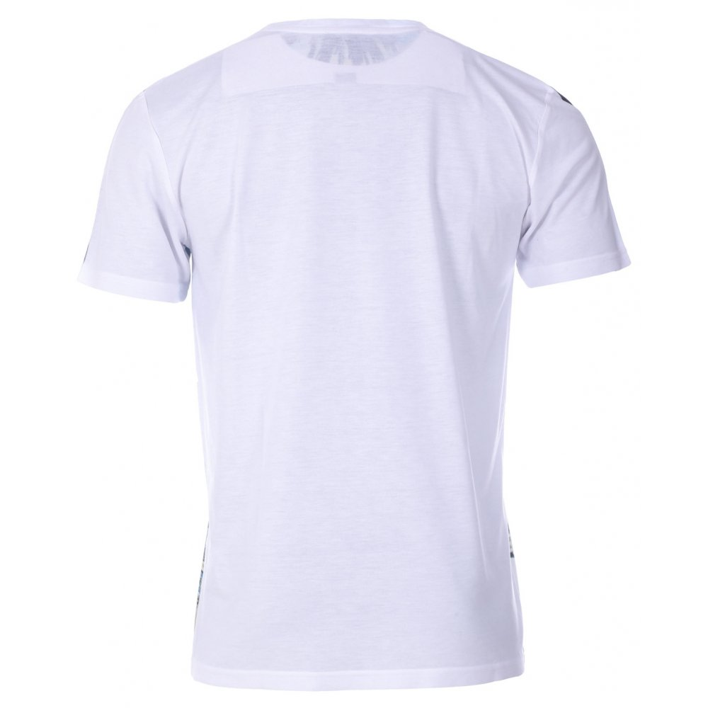 Twisted Soul Mens White Miami Strip Front Print T-Shirt Tee ...