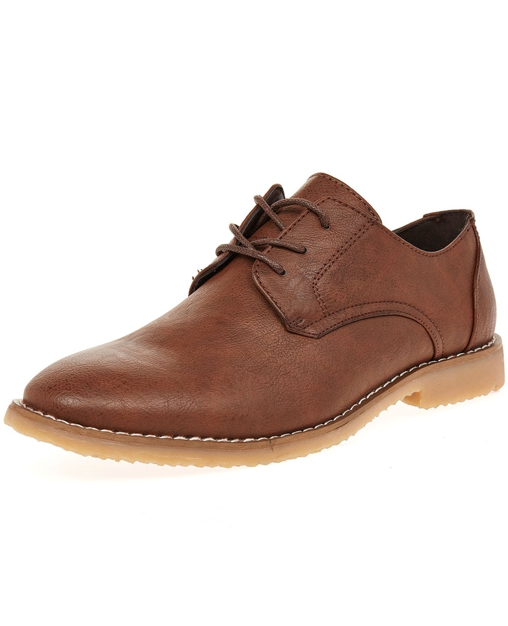 branded shoes mens brown suede finish gibson lace up