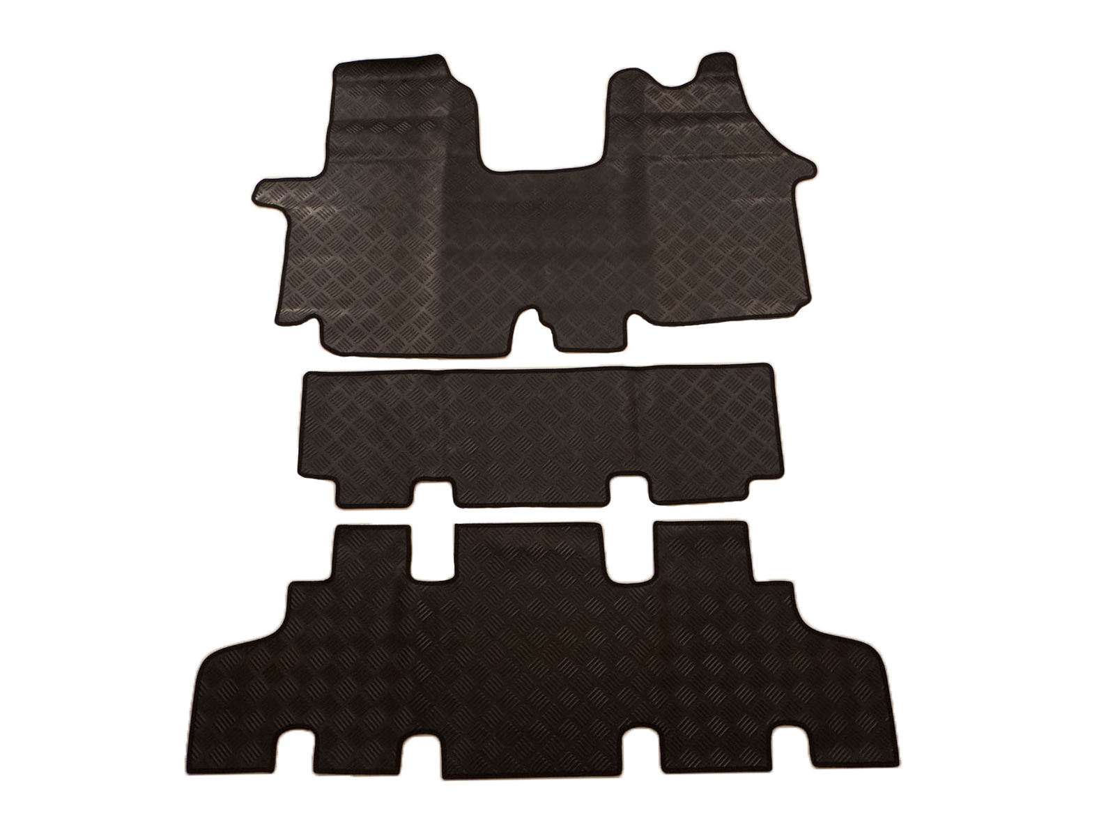 Rubber floor mat jigsaw - Tailored Heavy Duty Black Rubber Floor Mats For Renault Trafic Minibus 02 14