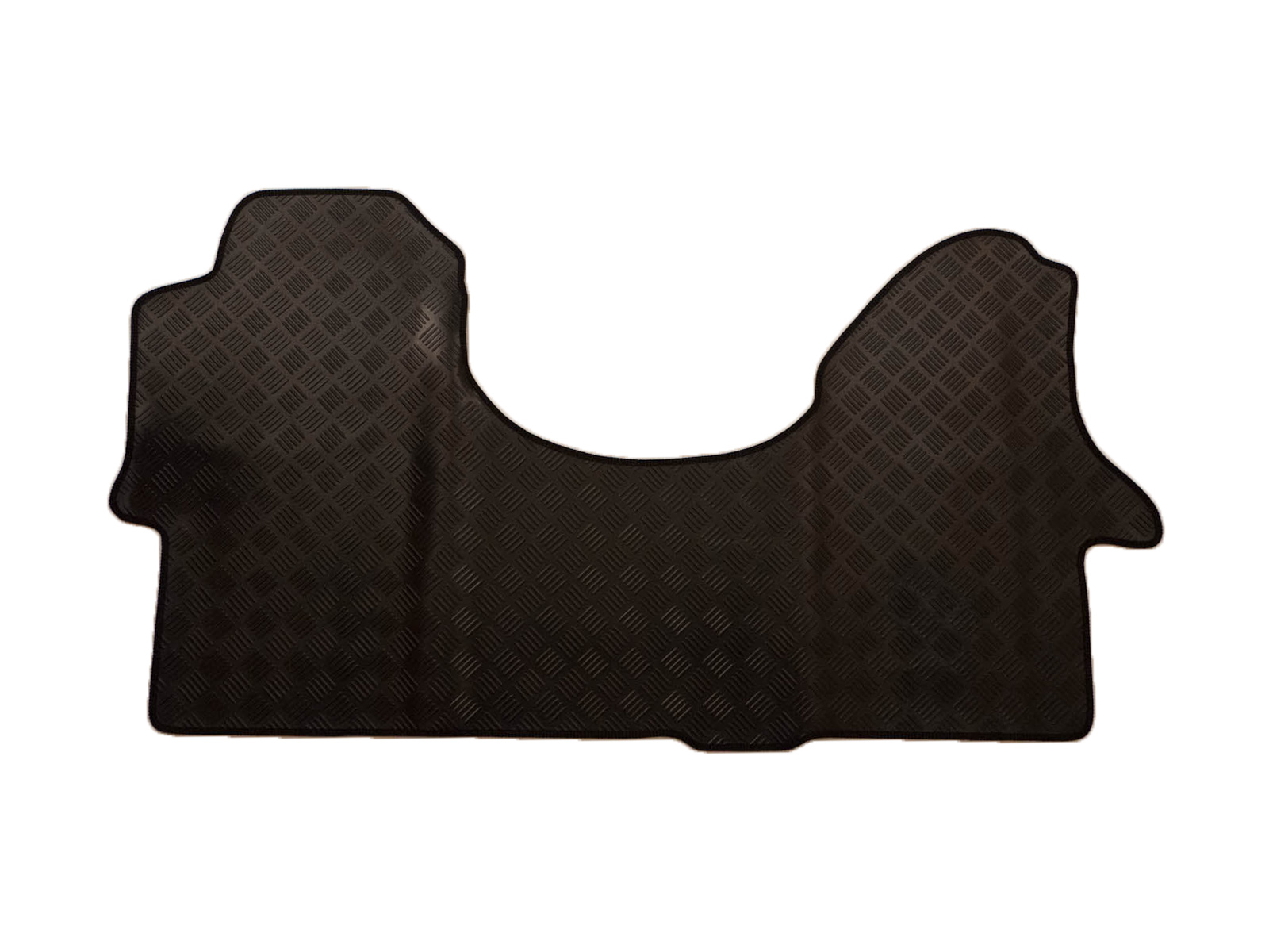 Tailored fit durable black rubber 1 piece floor mat for vw for 1 piece floor mats