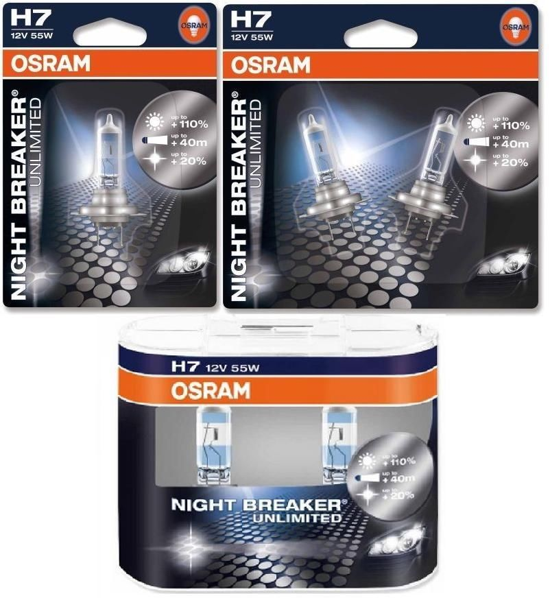 h7 osram night breaker unlimited headlight bulbs single. Black Bedroom Furniture Sets. Home Design Ideas