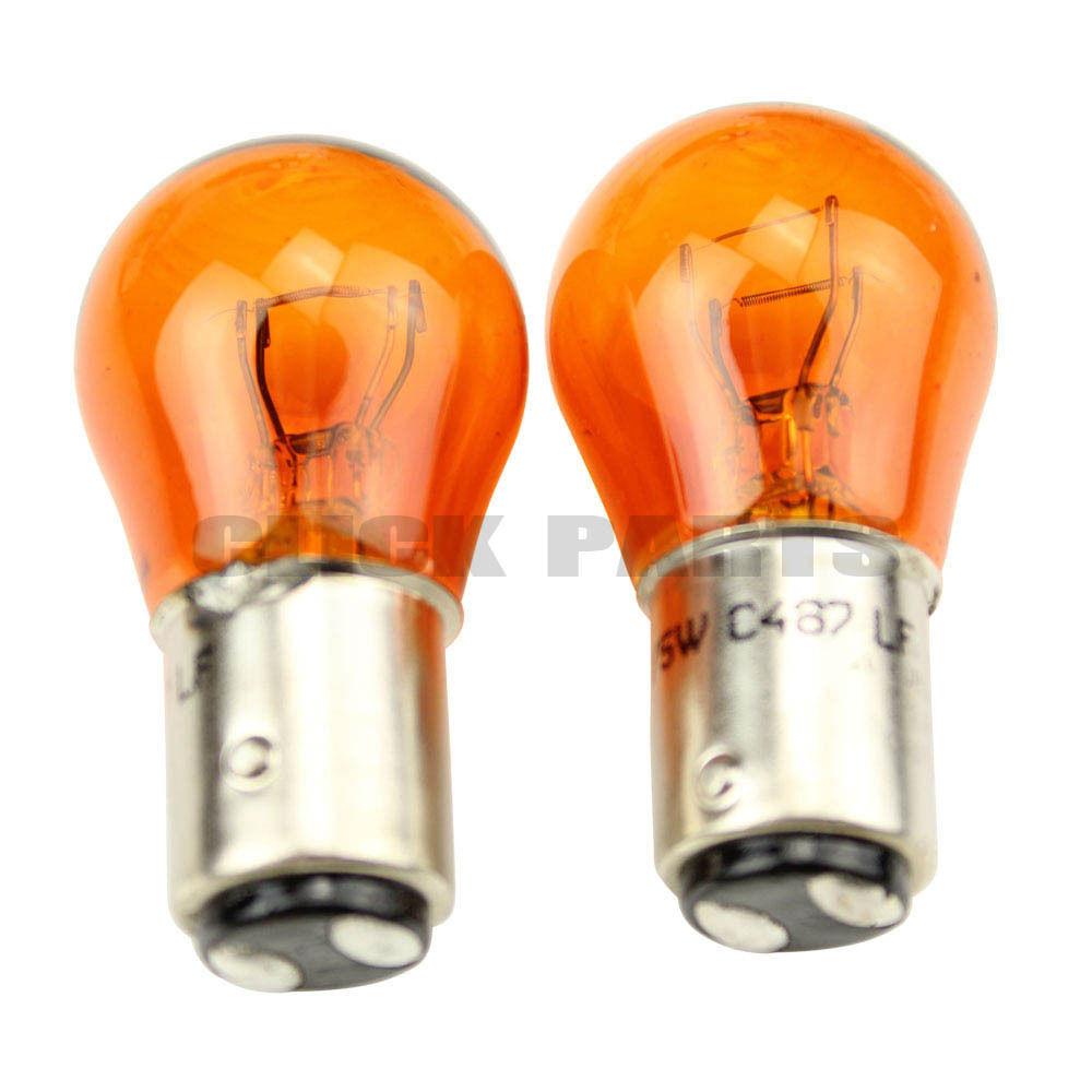 2 X Amber 380 Y Brake Stop Rear Tail Light Car Bulbs 12v 21 5w Twin Filament Ebay