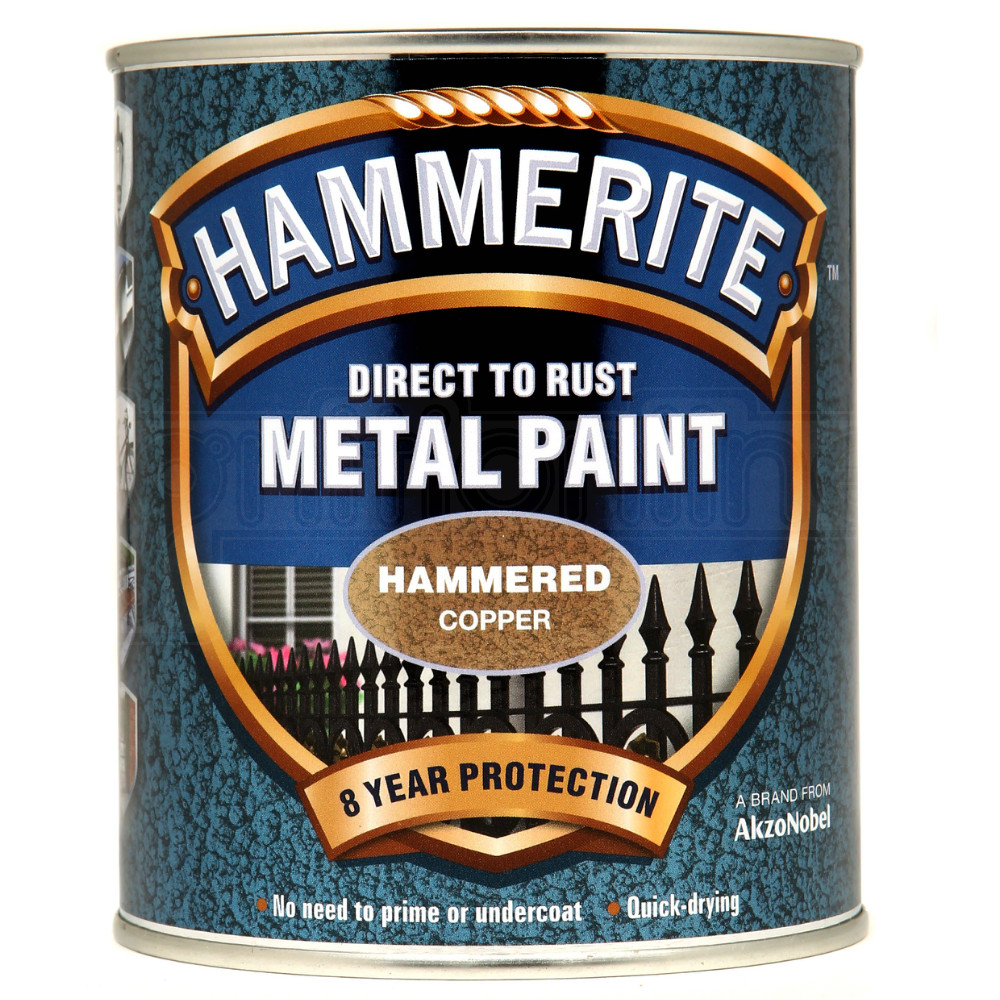 Hammerite Direct to Rust Metal Paint Quick Drying Hammered ...