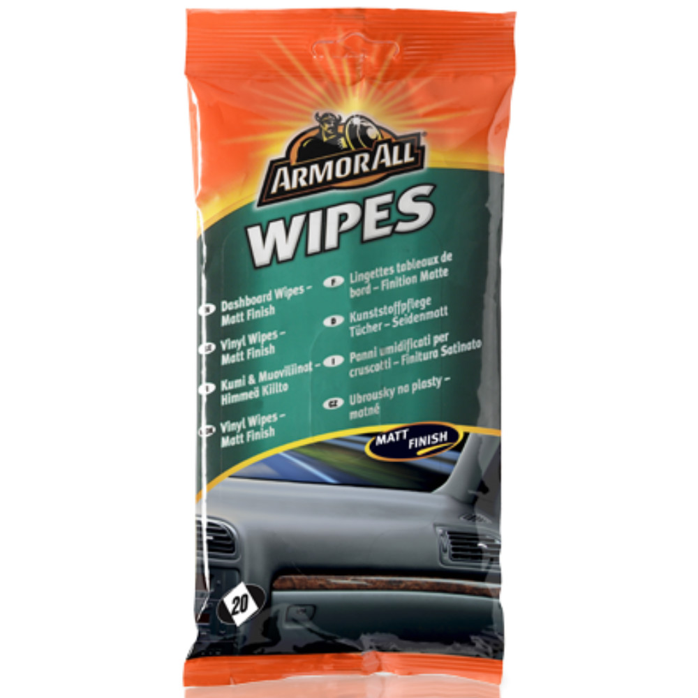 armorall dashboard cleaning wipes plastic vinyl car interior matt finish 20 pk ebay. Black Bedroom Furniture Sets. Home Design Ideas