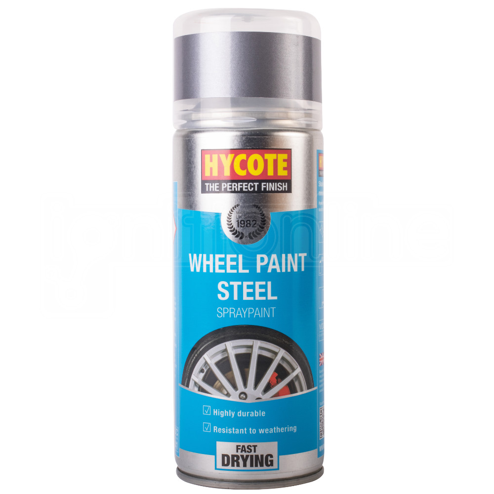 Hycote Wheel Paint Grey Silver Steel Coloured Spray Paint Durable Resistant Ebay