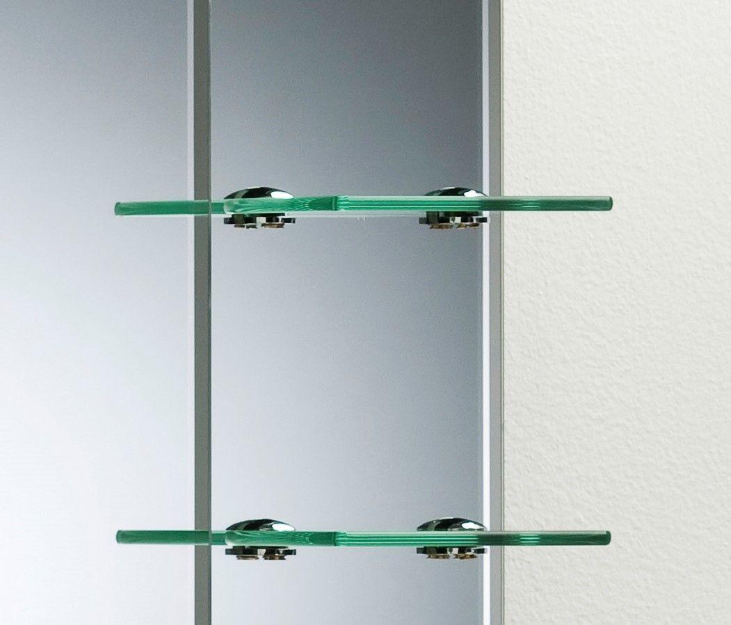 Bathroom Mirror Modern Stylish With Shelves Frameless Wall