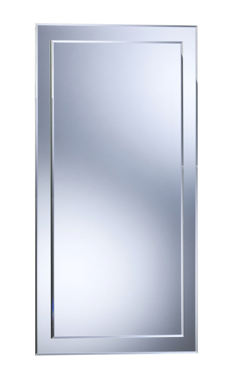 Bathroom mirror elegant double layer rectangular hang both ways wall plain ebay Neue design bathroom mirror