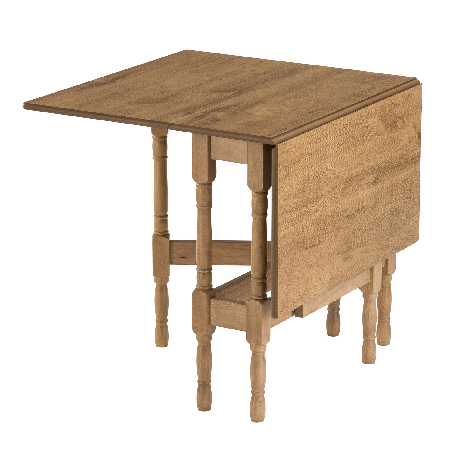 Drop leaf table heatproof folding dining kitchen gateleg for Rectangular drop leaf dining table