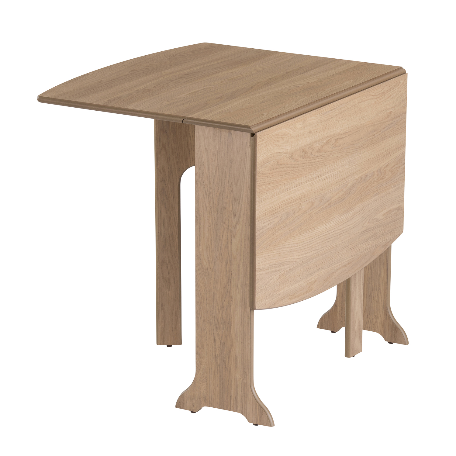 Table HEATPROOF Folding Dining Kitchen Gateleg Seats 6 D End Oak. Full resolution‎  portrait, nominally Width 1500 Height 1500 pixels, portrait with #8A6441.