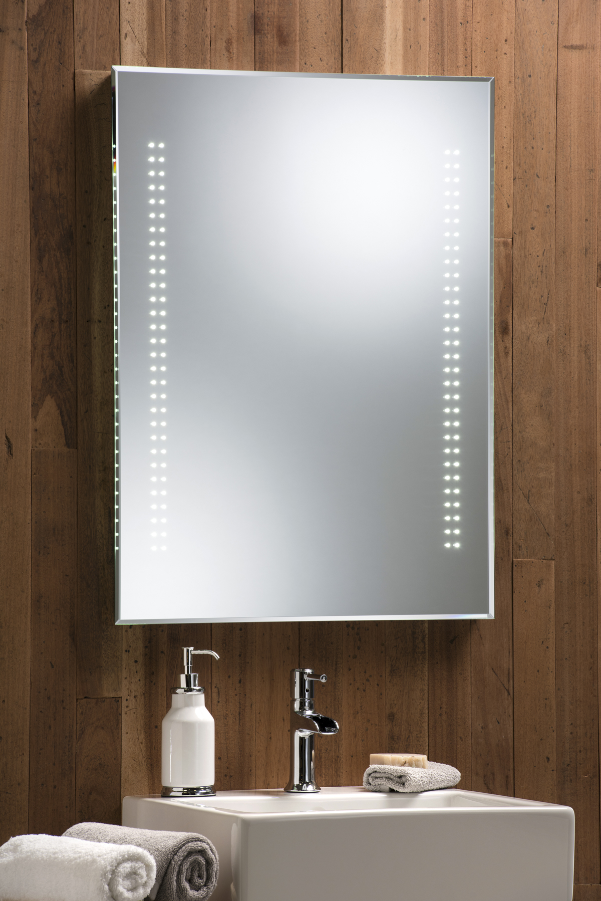 ILLUMINATED BATHROOM MIRROR ~ LED SENSOR DEMISTER 80cm x ...