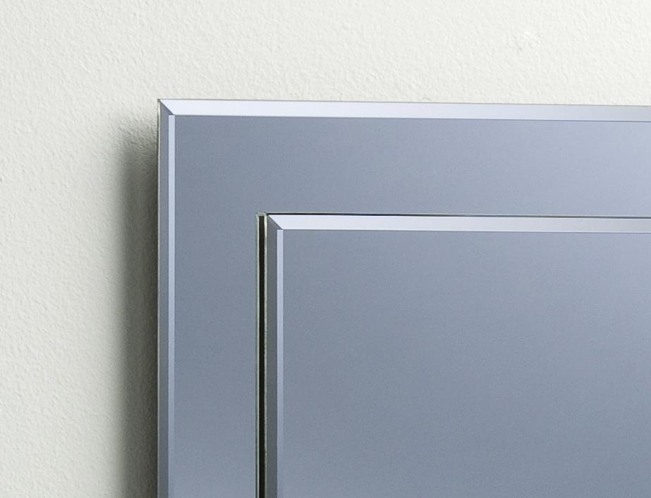 BATHROOM MIRROR ON MIRROR Elegant Rectangular WITH SHELF ~ Wall ...