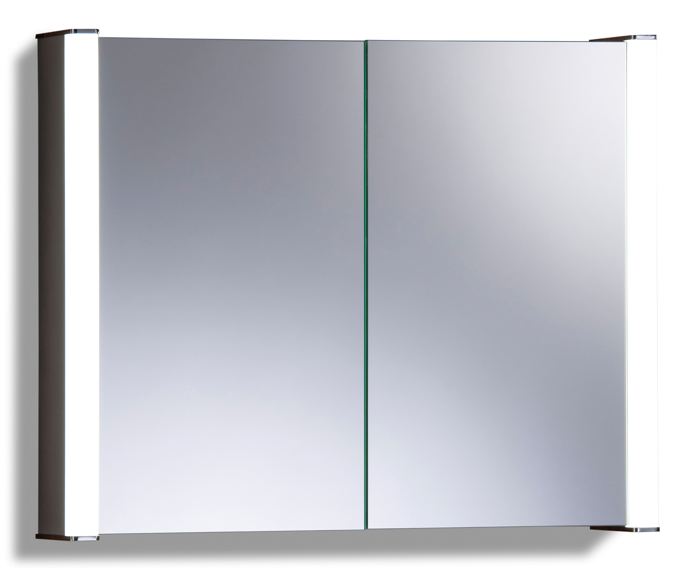 Illuminated Mirror Glass Cabinet: LED Illuminated Bathroom MIRROR CABINET Demister Shaver