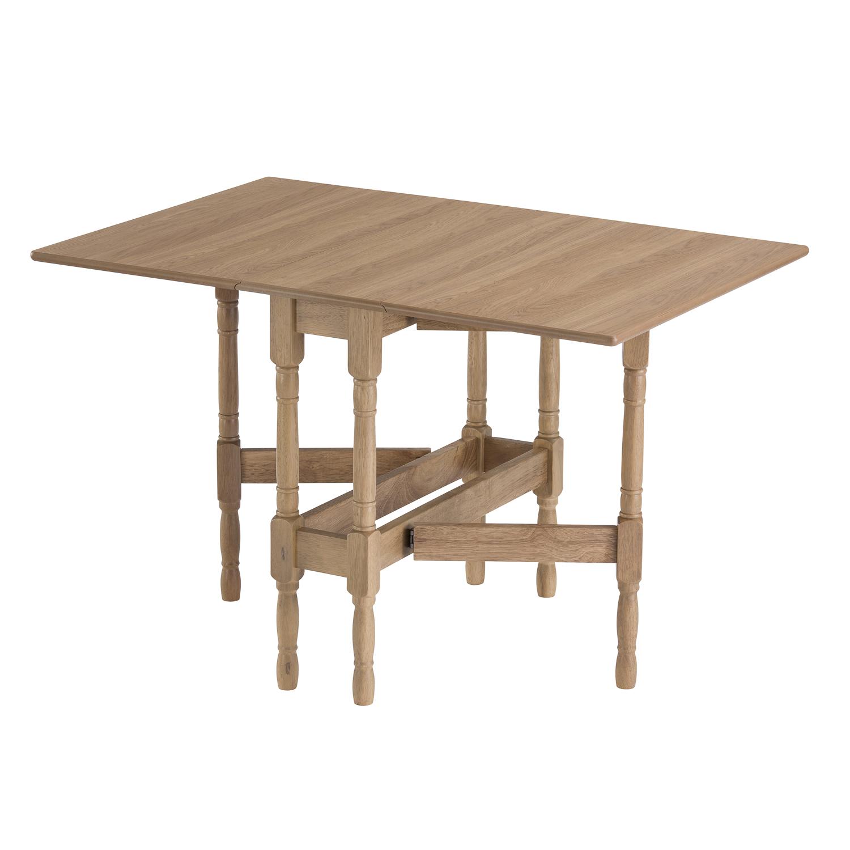 drop leaf table heatproof folding dining kitchen gateleg seat 6