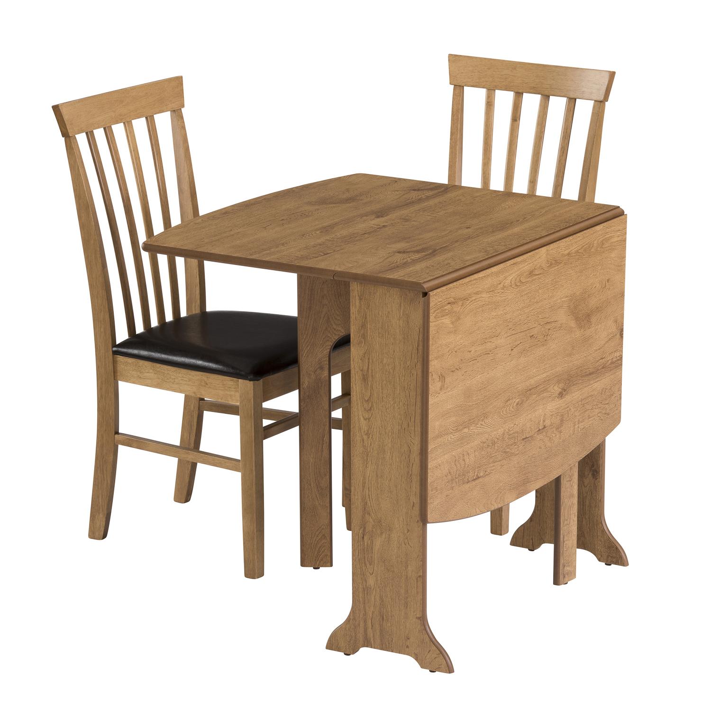 Drop leaf table heatproof folding dining kitchen gateleg seats 6 d end warm oak ebay - Folding gateleg table ...