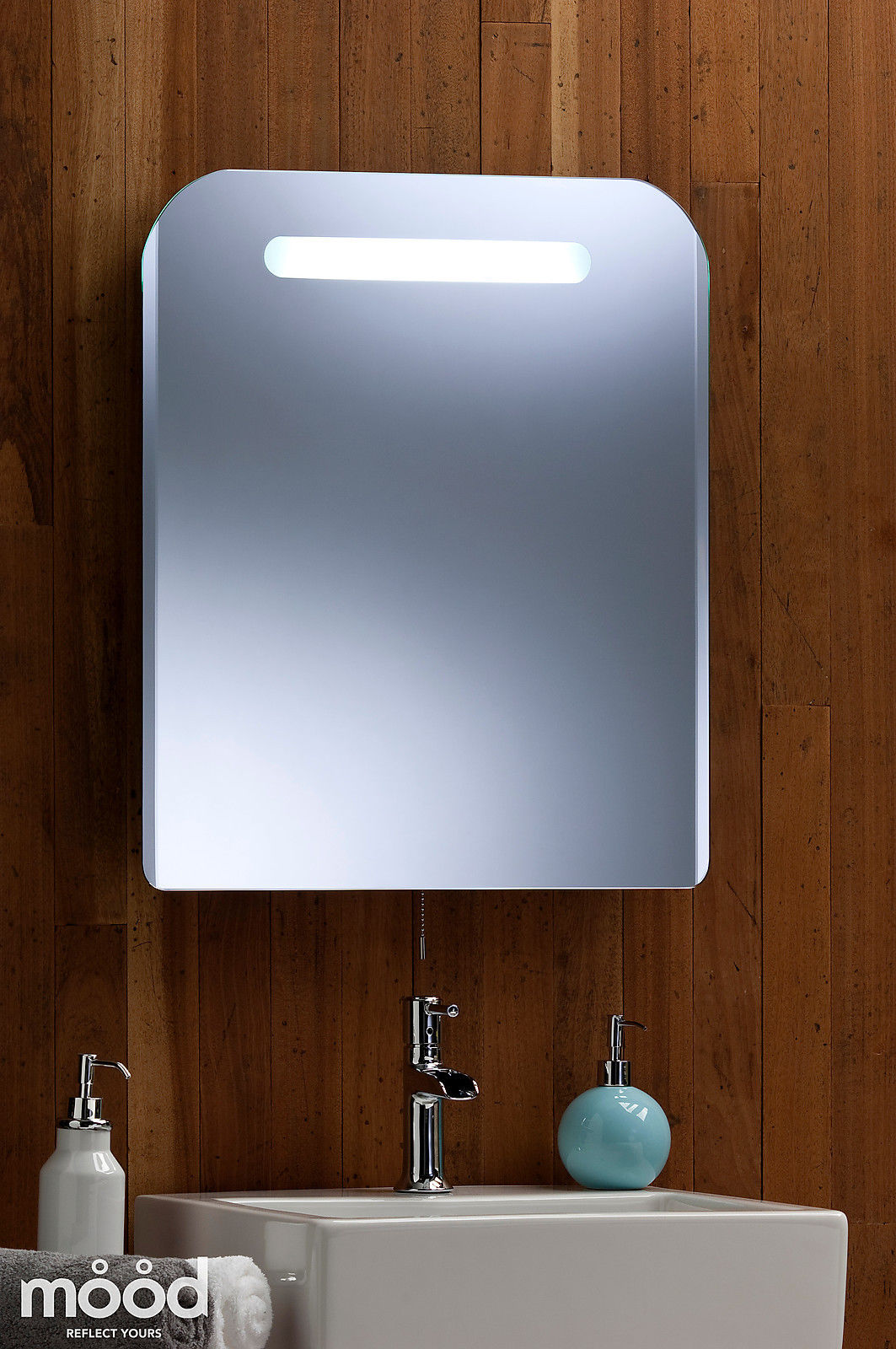 Backlit bathroom wall mirror illuminated rectangular fluorescent 65cmx55cm 135 ebay Neue design bathroom mirror