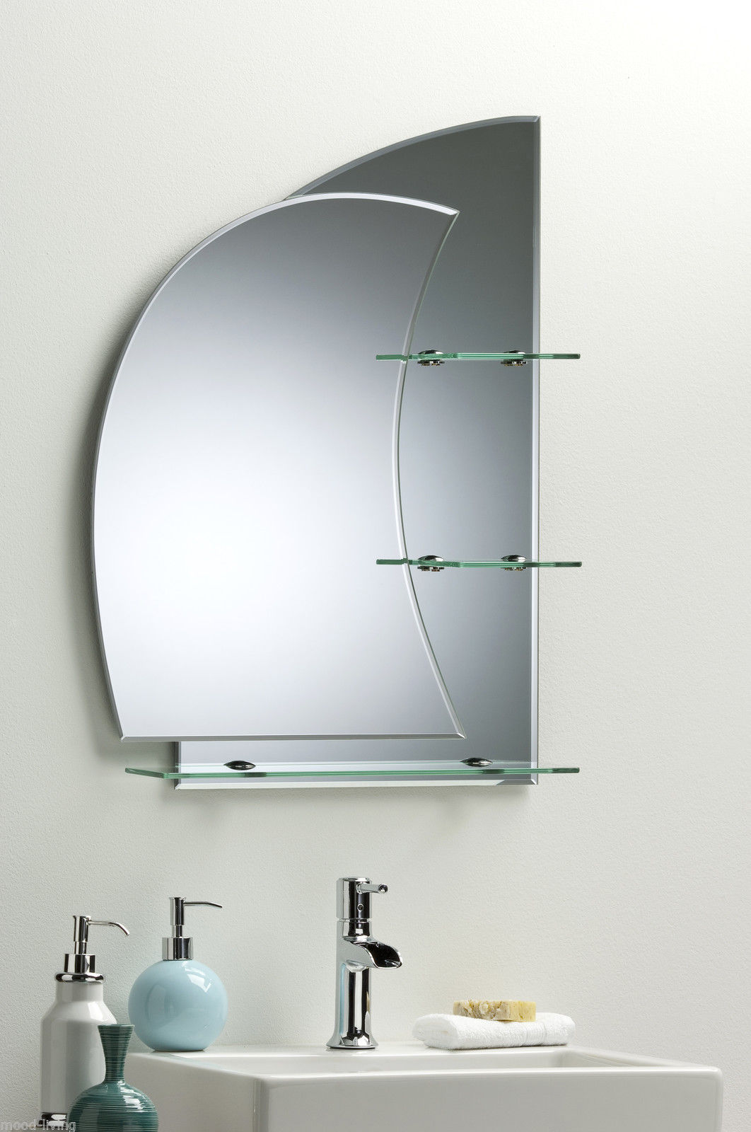 Bathroom Mirror With Shelves Stunning Nautical Design Plain Wall Hung Shelf Ebay