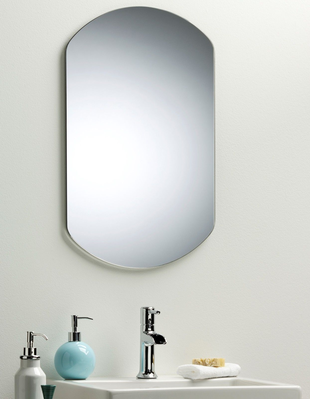 Bathroom mirror simple elegant plain design wall mounted 65cm x 40cm 1401le ebay Neue design bathroom mirror