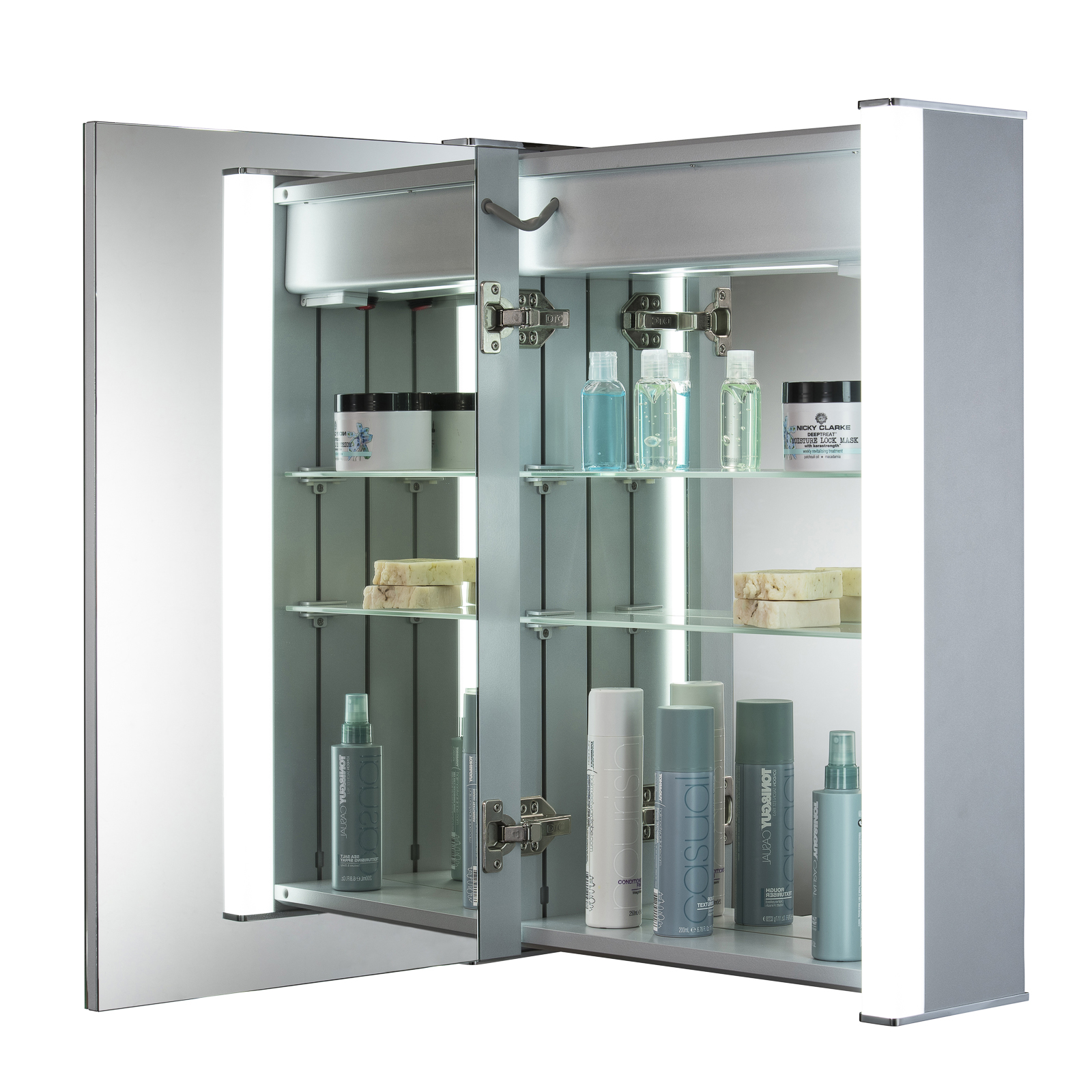 Led illuminated bathroom mirror cabinet with demister shaver sensor 70x50 c11 ebay Neue design bathroom mirror
