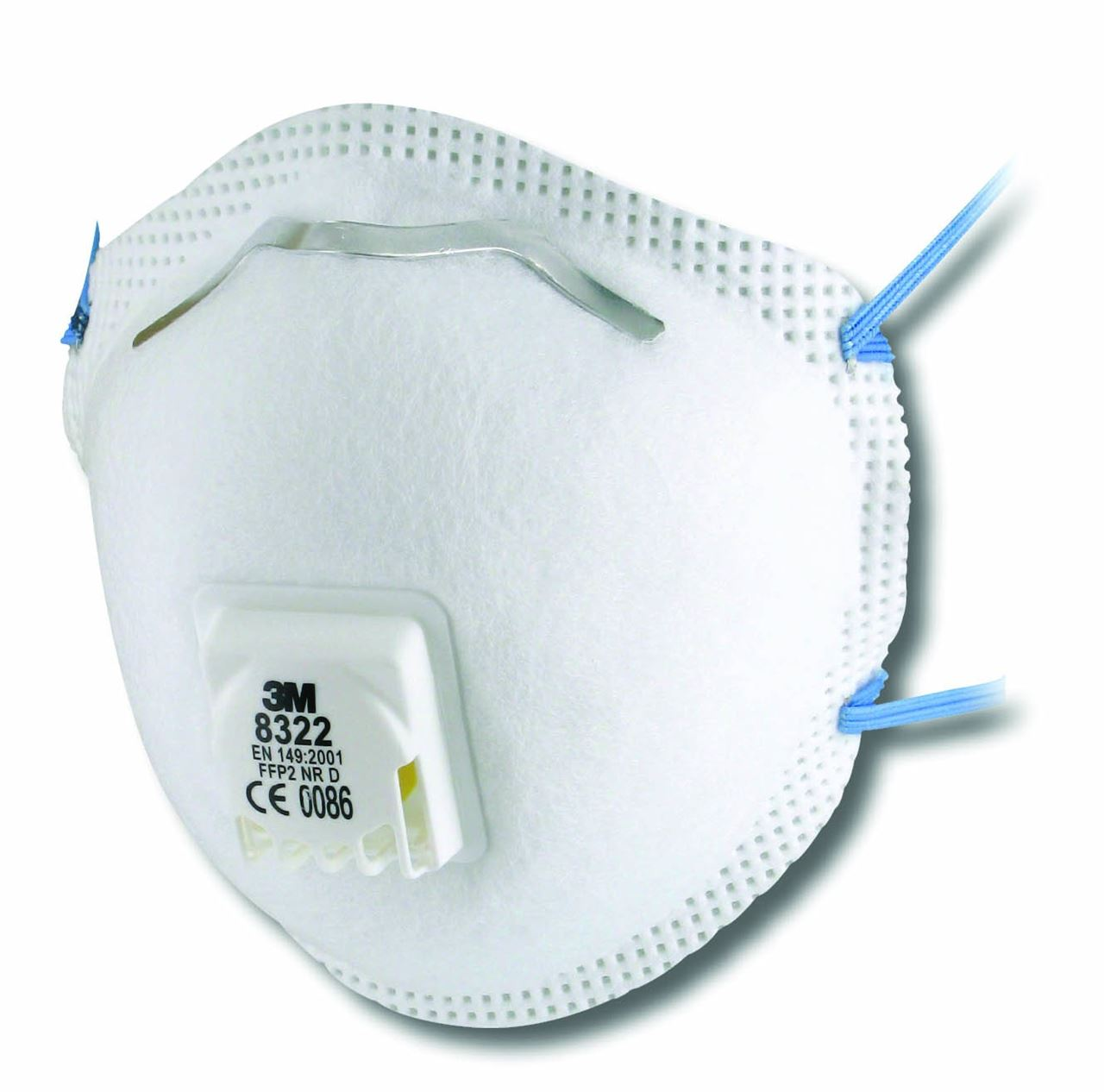 10 X Box 3M 8322 Disposable Dust Mask FFP2 Safety Valved ...