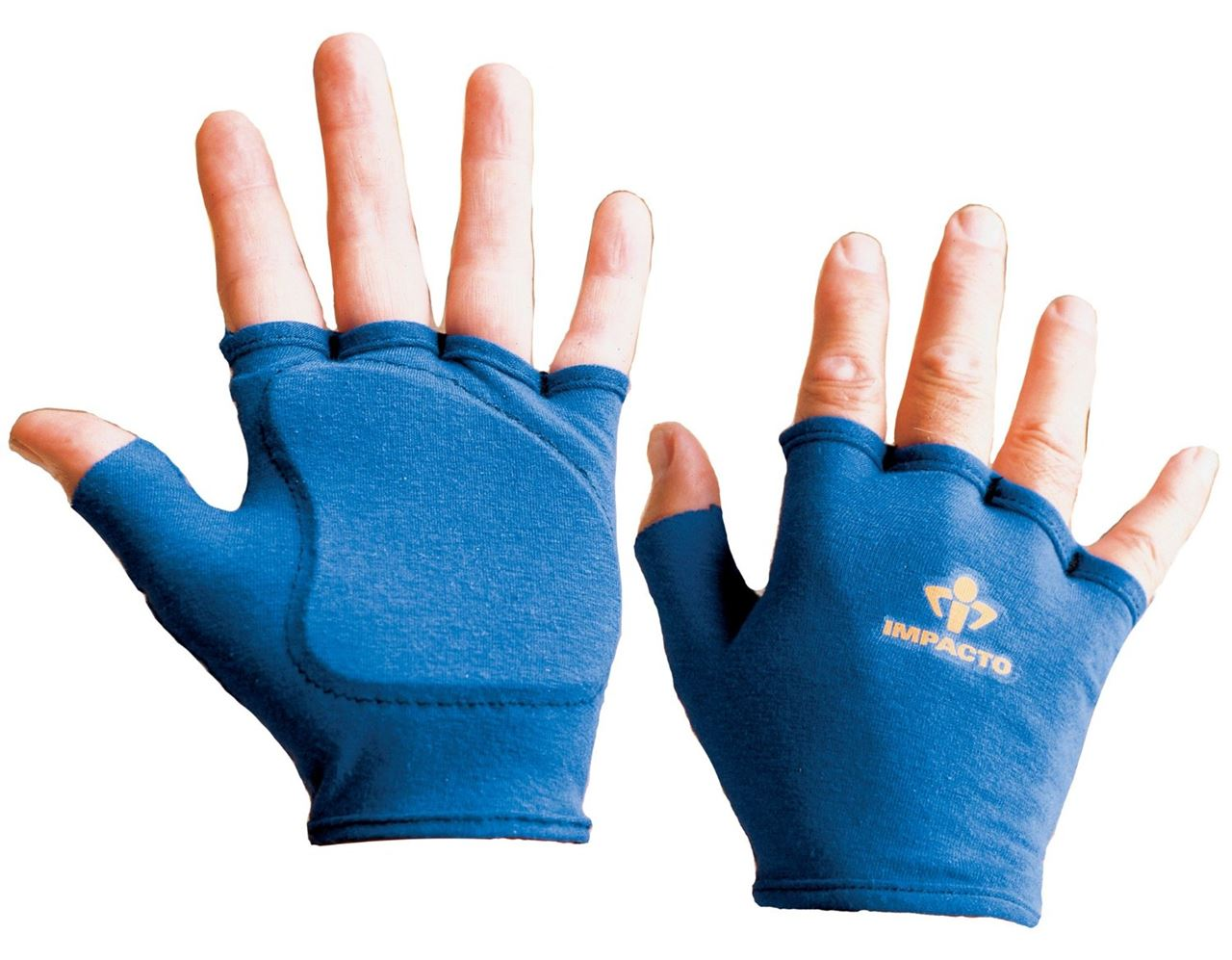 Fingerless impact gloves - Impacto 501 00 Fingerless Work Gloves Anti Vibration High Grip Anti Impact