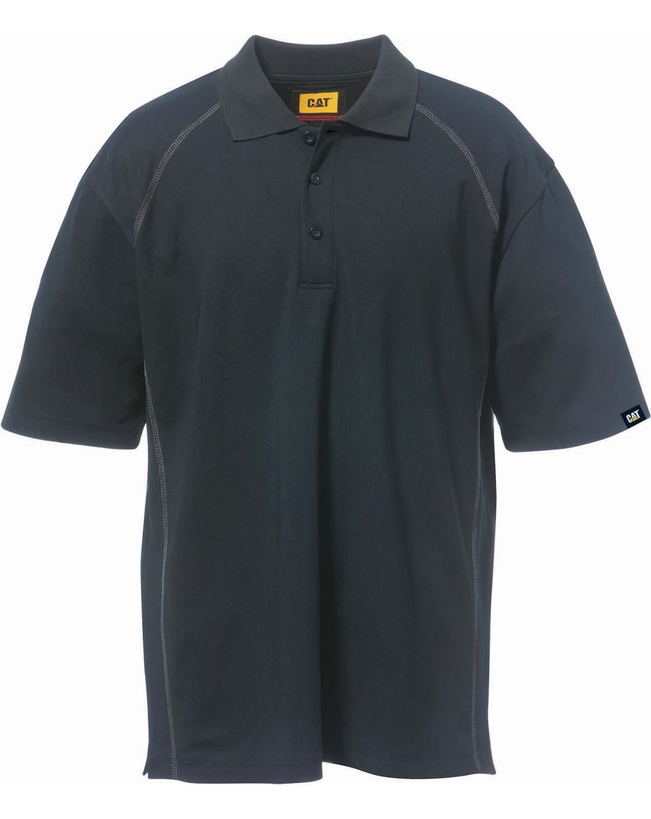 Caterpillar cat apparel advanced performance men work for Mens work polo shirts