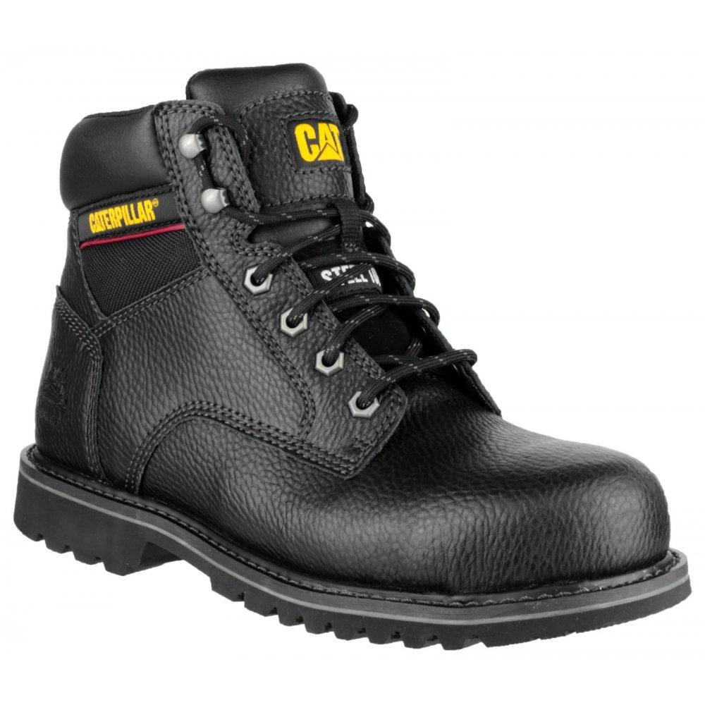Caterpillar electric 6 39 39 mens safety boots sb steel toe cap premium leather work ebay - Chaussure homme caterpillar ...