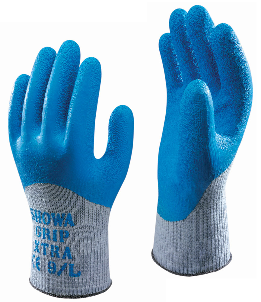 Leather work gloves screwfix - Showa 305 Extra Grip Work Gloves Latex Coated General Handling Hand Protection