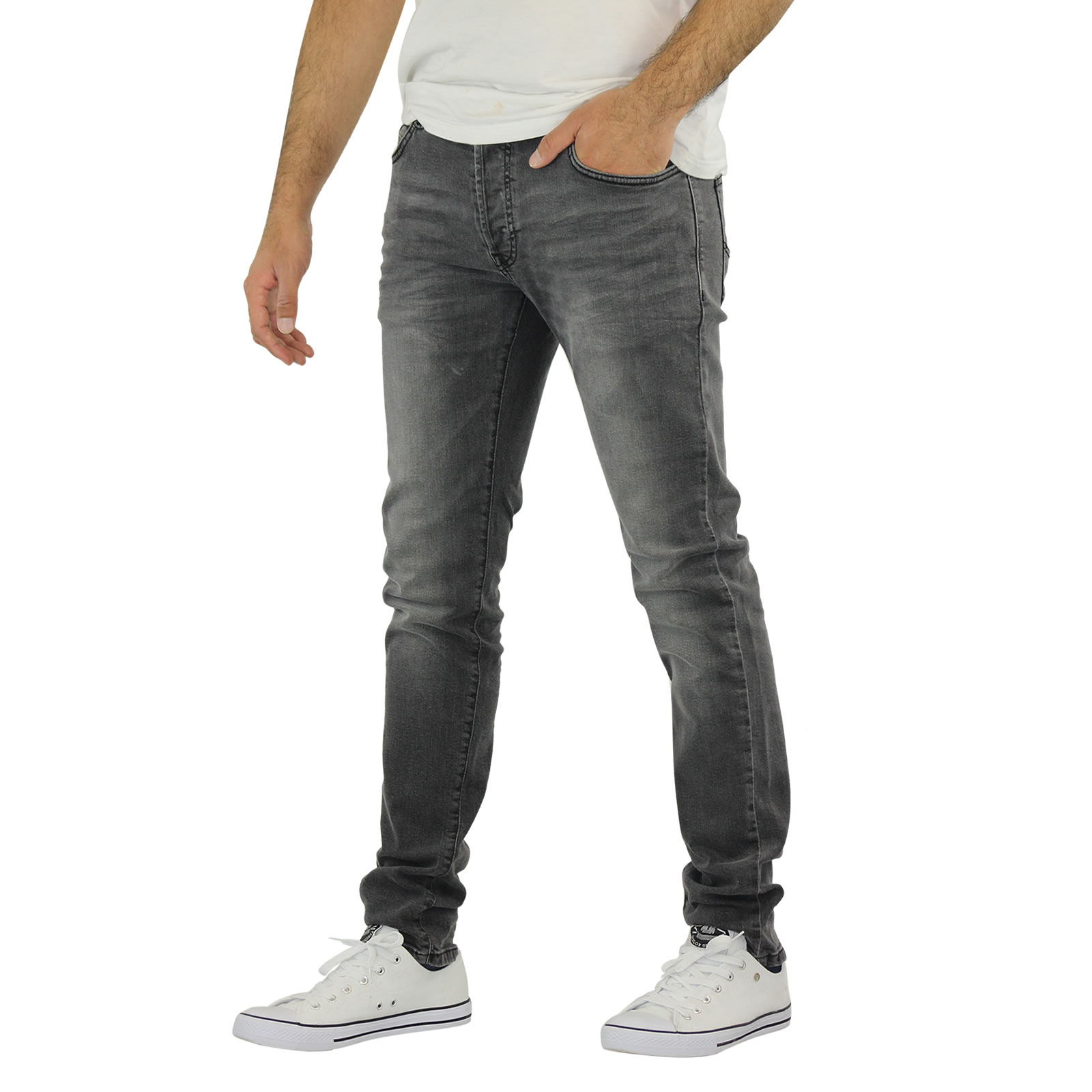 Mens Jeans Firetrap Denhoff Skinny Stretch Denim Pants