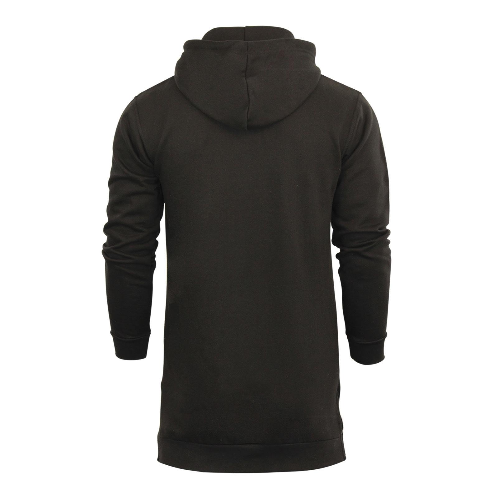 Mens Hoodie Brave Soul Strike Longline Zip Up Hooded Sweater