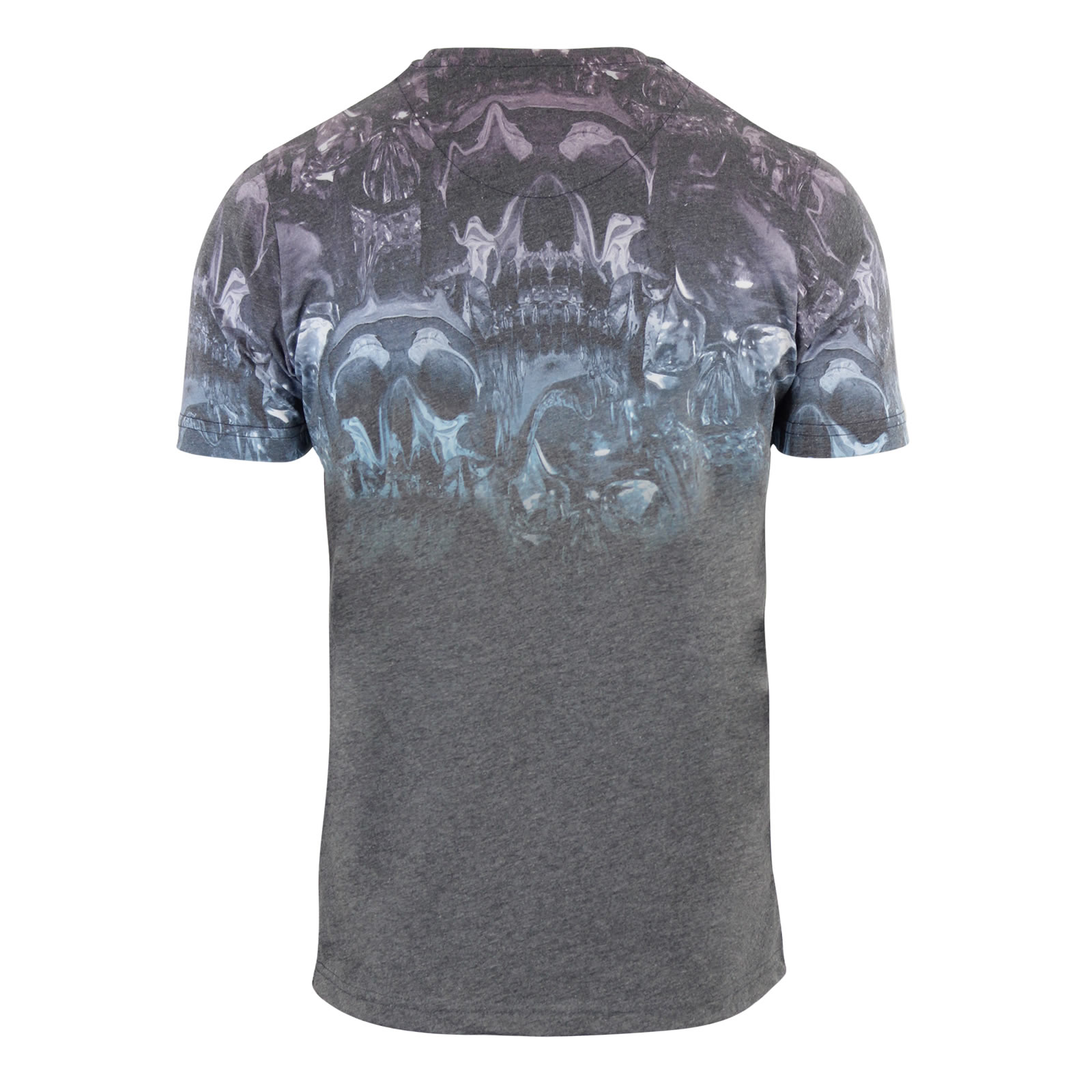 Firetrap skulpin printed graphic acid wash t shirt for Graphic t shirt printing company