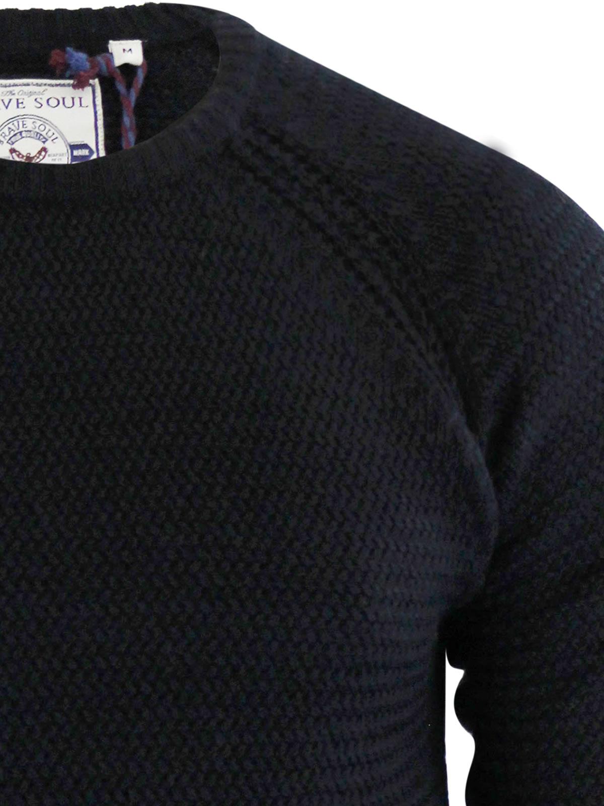 herren-pullover-brave-soul-columbia-weave-strick-rundhals-winterpulli Indexbild 7