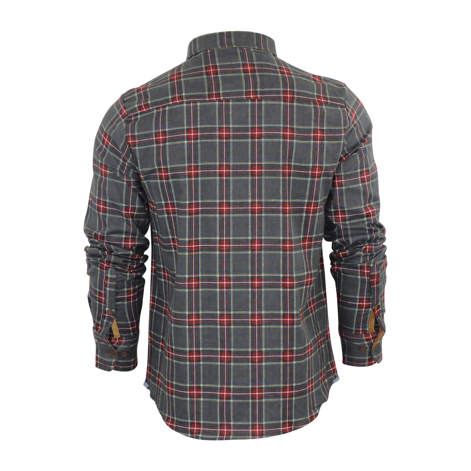 Mens-Check-Shirt-Brave-Soul-Edvard-Flannel-Brushed-Cotton-Long-Sleeve-Casual-Top thumbnail 6