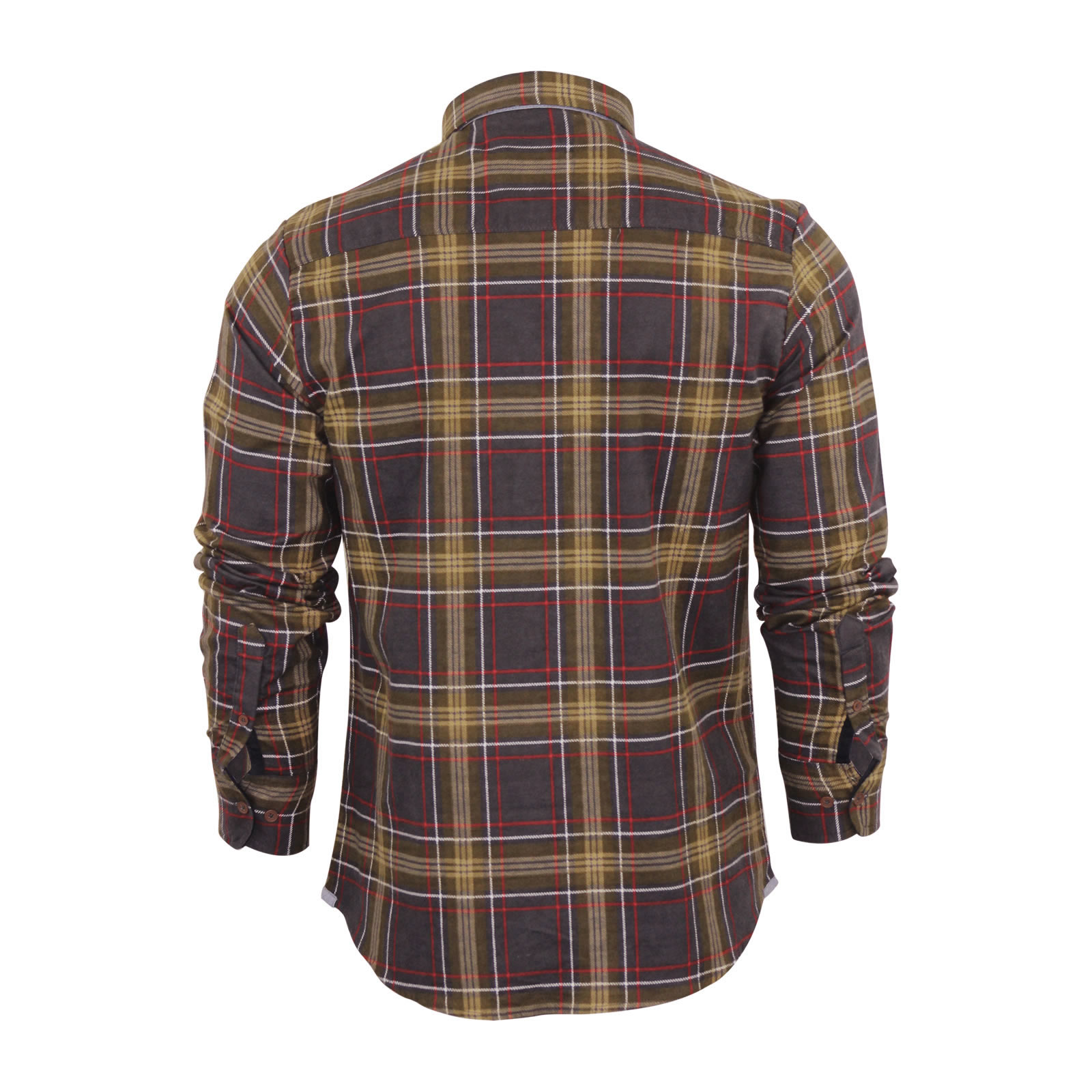 Mens-Check-Shirt-Brave-Soul-Edvard-Flannel-Brushed-Cotton-Long-Sleeve-Casual-Top thumbnail 3