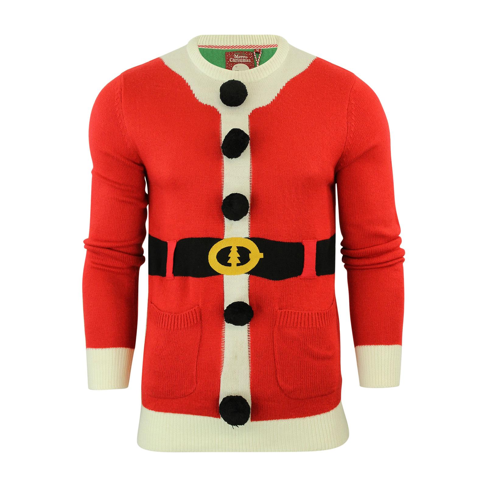 Mens Xmas Christmas Jumper Brave Soul Bailey Santa Elf ...