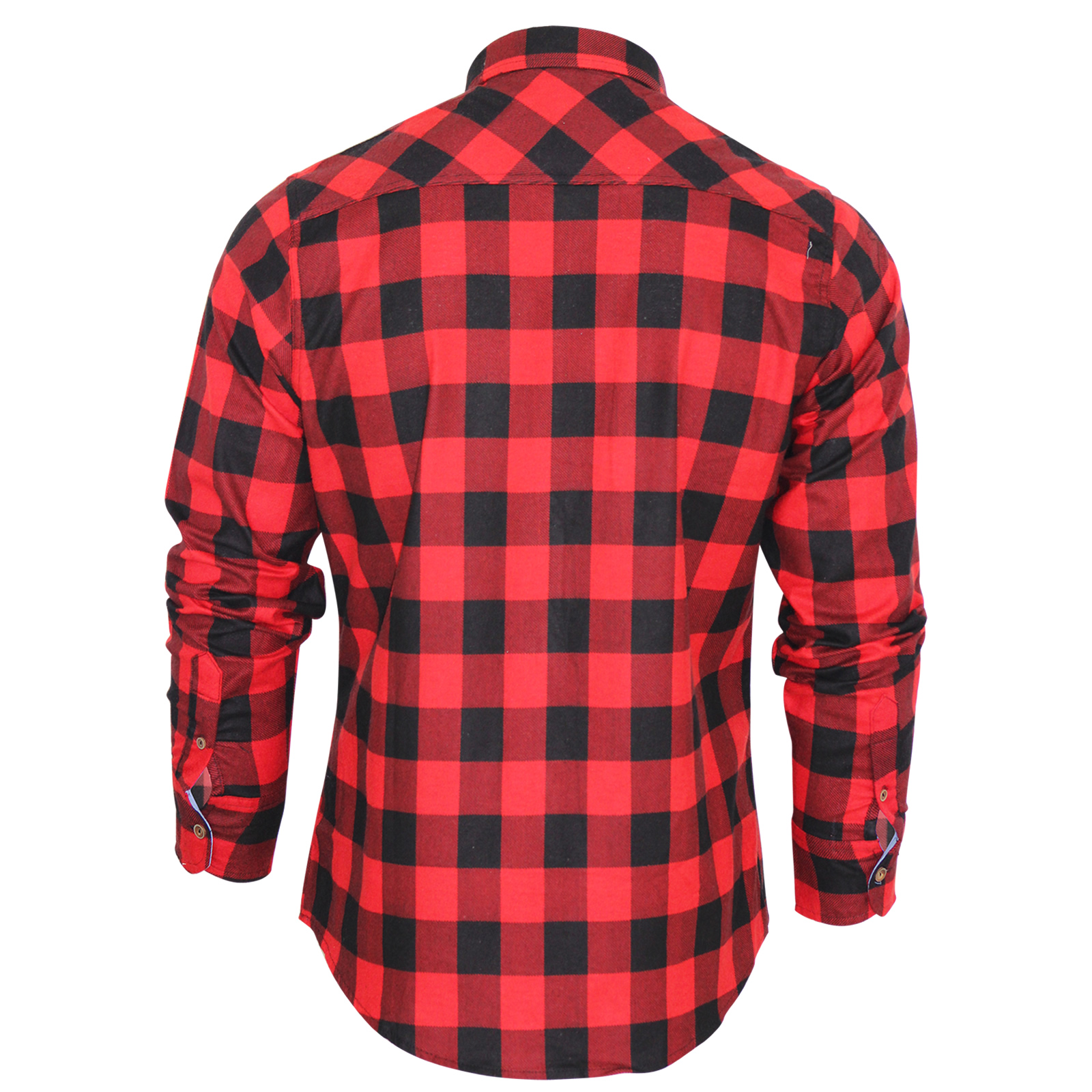 mens check shirt brave soul flannel brushed cotton long sleeve casual top ebay. Black Bedroom Furniture Sets. Home Design Ideas
