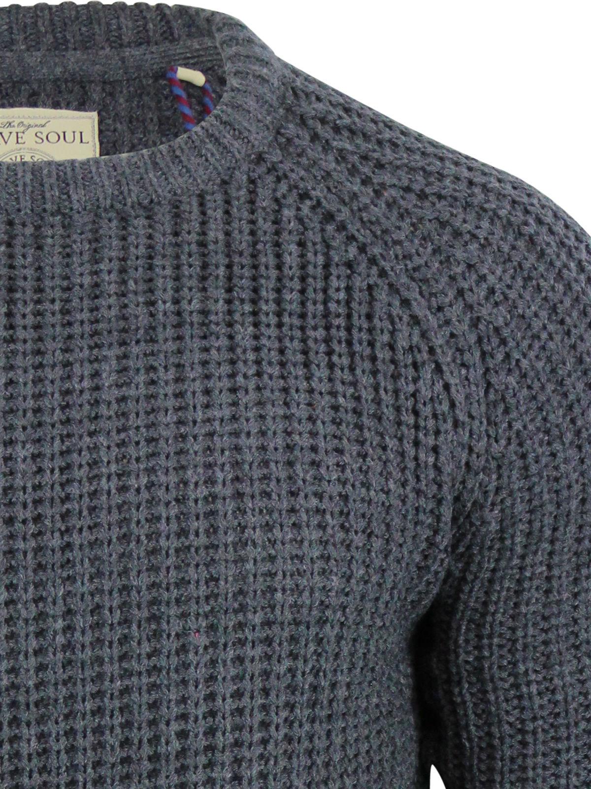 Knitting Pattern Mens Crew Neck Jumper : Mens Jumper Brave Soul Konstantin Fisherman Knit Crew Neck Raglan Sweater eBay