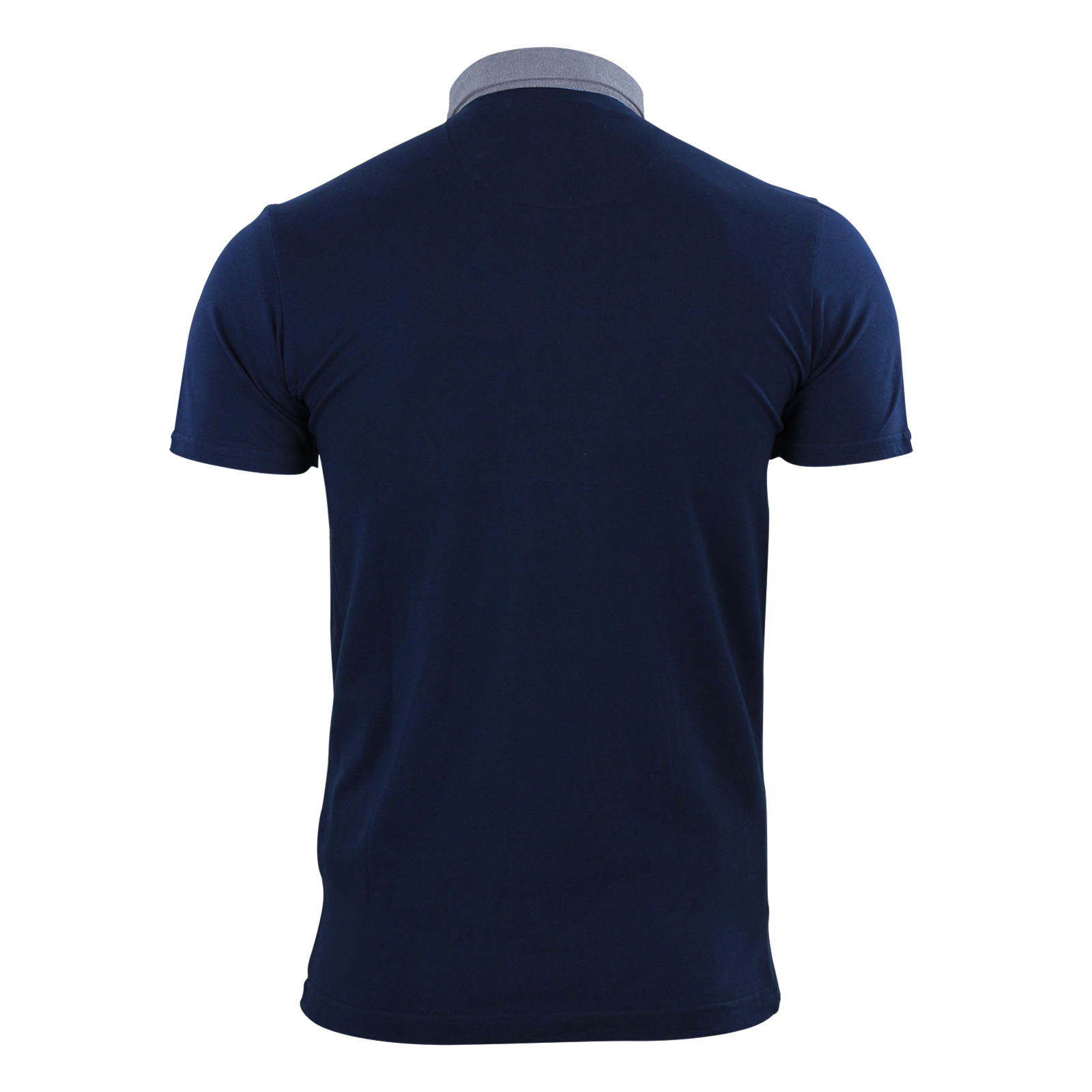 Mens-Polo-T-Shirt-Brave-Soul-Chimera-Chambray-Collared-Cotton-Casual-Top thumbnail 6