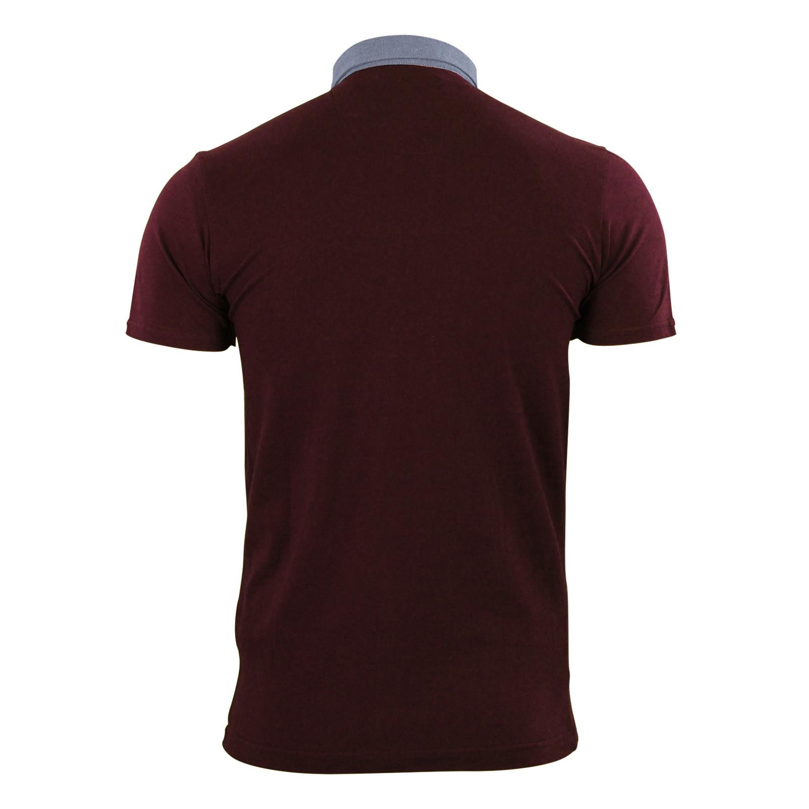 Mens-Polo-T-Shirt-Brave-Soul-Chimera-Chambray-Collared-Cotton-Casual-Top thumbnail 3
