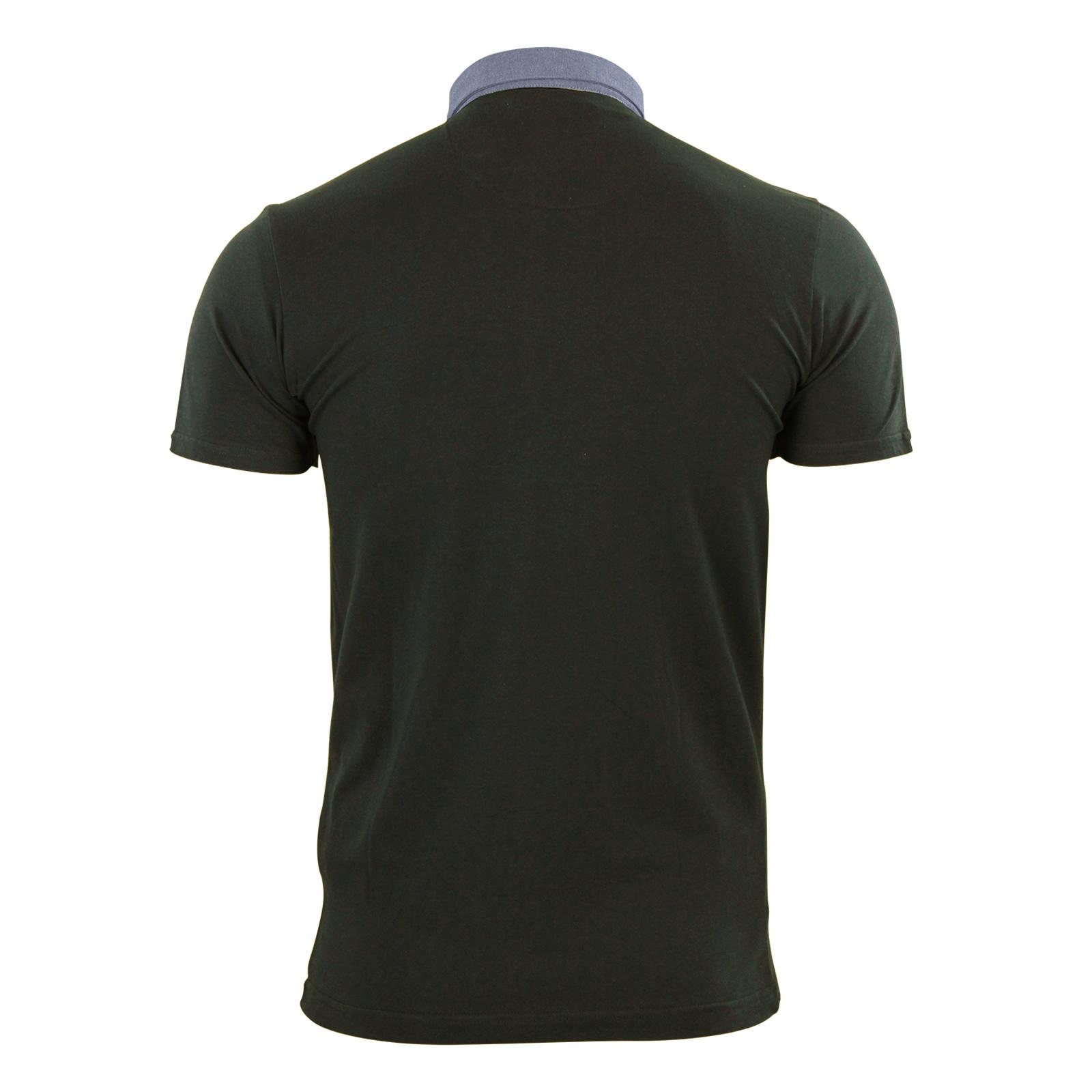Mens-Polo-T-Shirt-Brave-Soul-Chimera-Chambray-Collared-Cotton-Casual-Top thumbnail 15