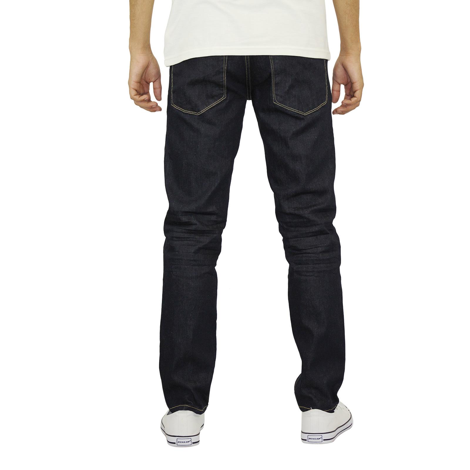miniature 13 - Homme Crosshatch Jaco Slim Jeans stretch pantalon denim effet vieilli