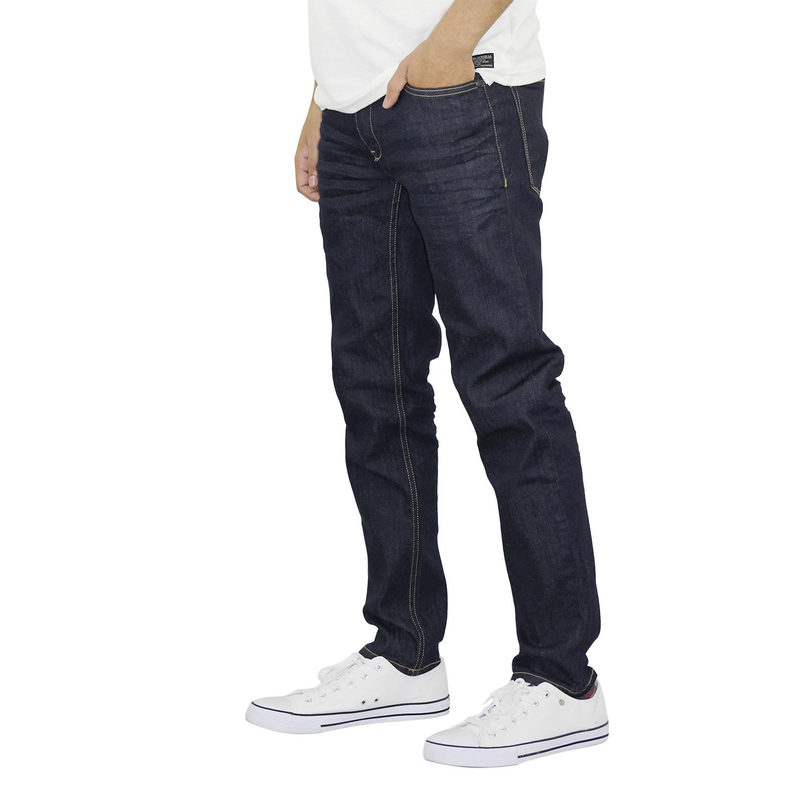 miniature 12 - Homme Crosshatch Jaco Slim Jeans stretch pantalon denim effet vieilli