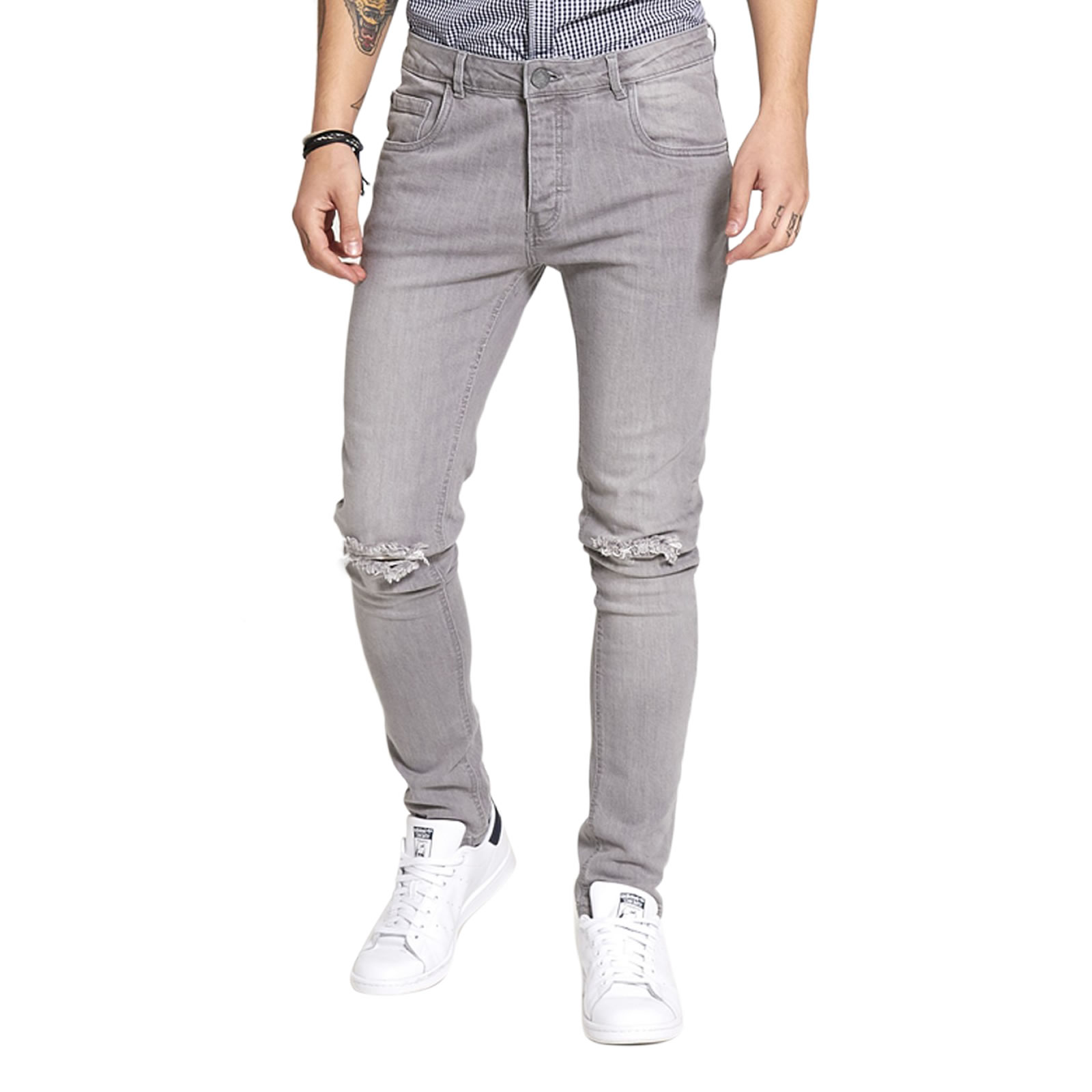Skinny Jeans - Grey Brave Soul Cheap Price Low Shipping Fee Sale Online Shop View For Sale XIWMuL2