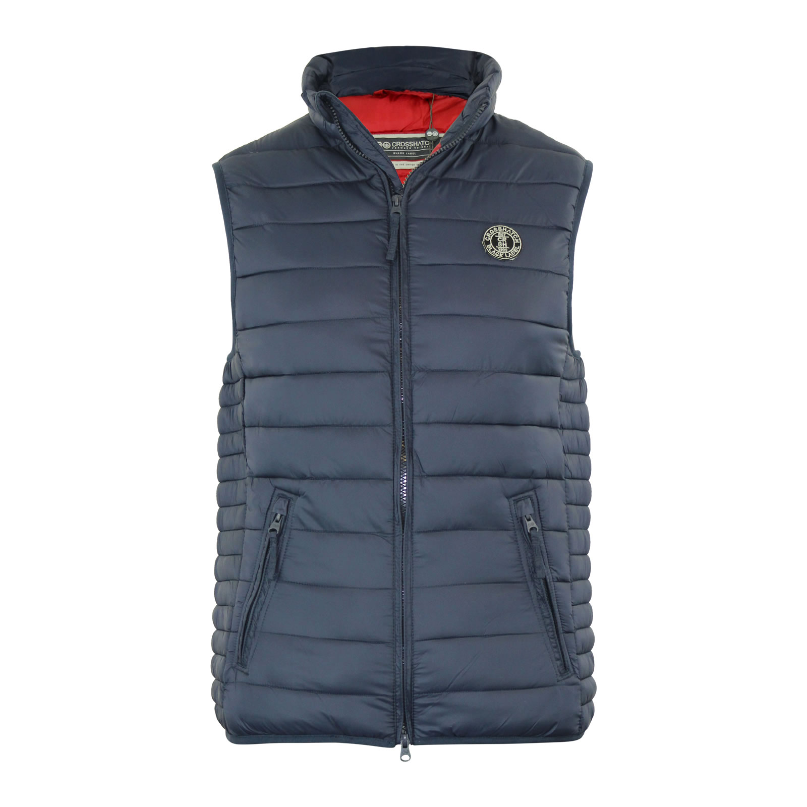 Mens quilted jacket next - Mens Gilet Bodywarmer Crosshatch Boxhill Quilted Wadded Down