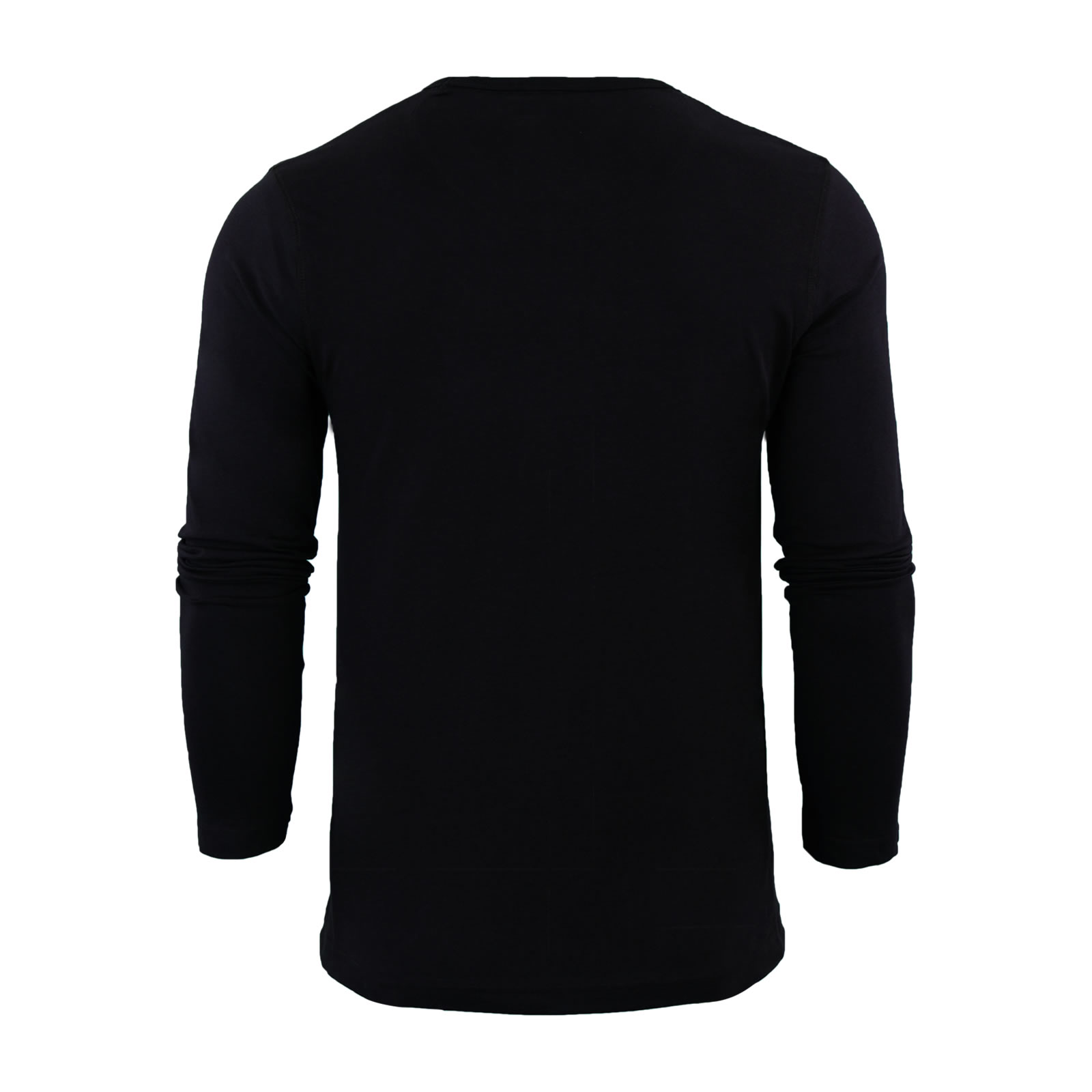 Mens-T-Shirt-by-Brave-Soul-Prague-Cotton-Long-Sleeved-Crew-Neck-Casual-Top thumbnail 3