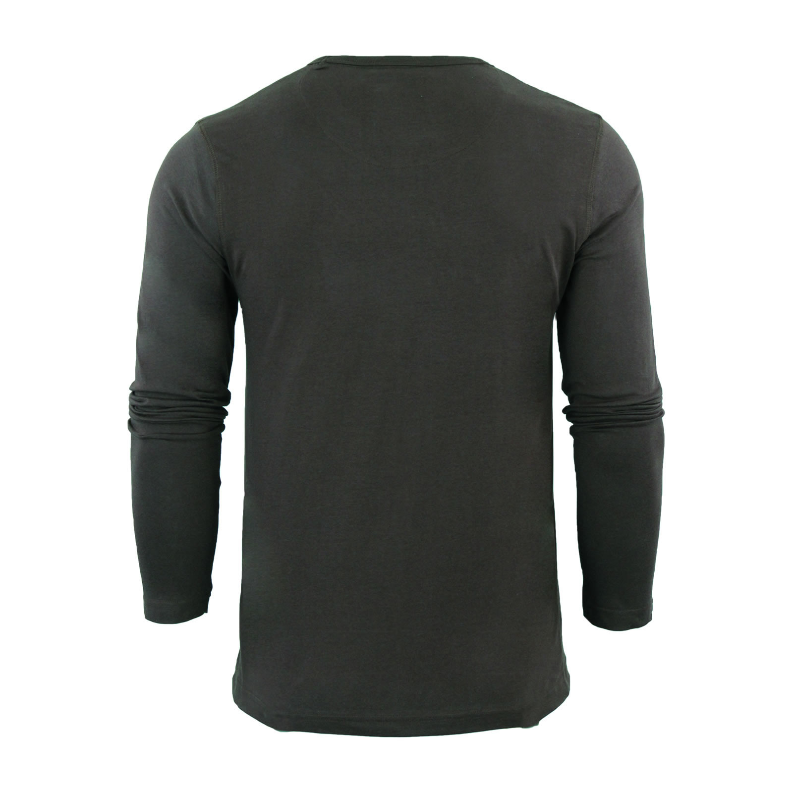 Mens-T-Shirt-by-Brave-Soul-Prague-Cotton-Long-Sleeved-Crew-Neck-Casual-Top thumbnail 9
