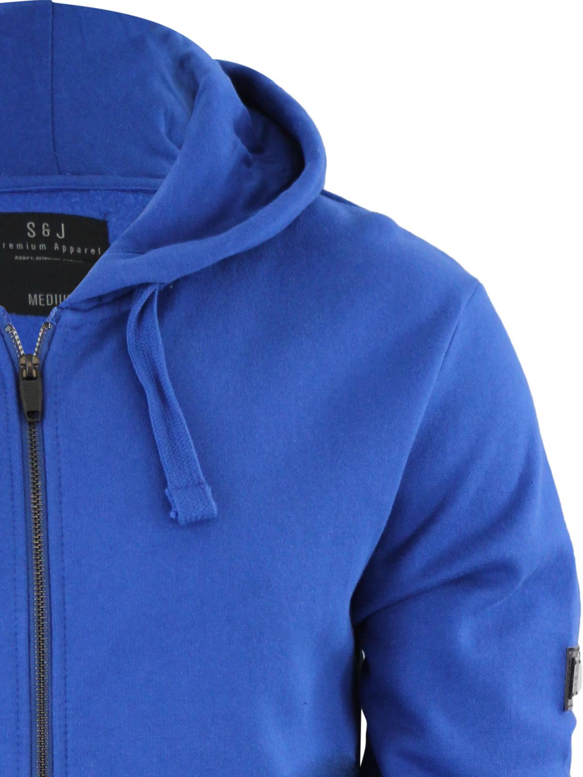 Smith /& Jones Parthen Mens Hoodie Zip Up Hooded Sweater