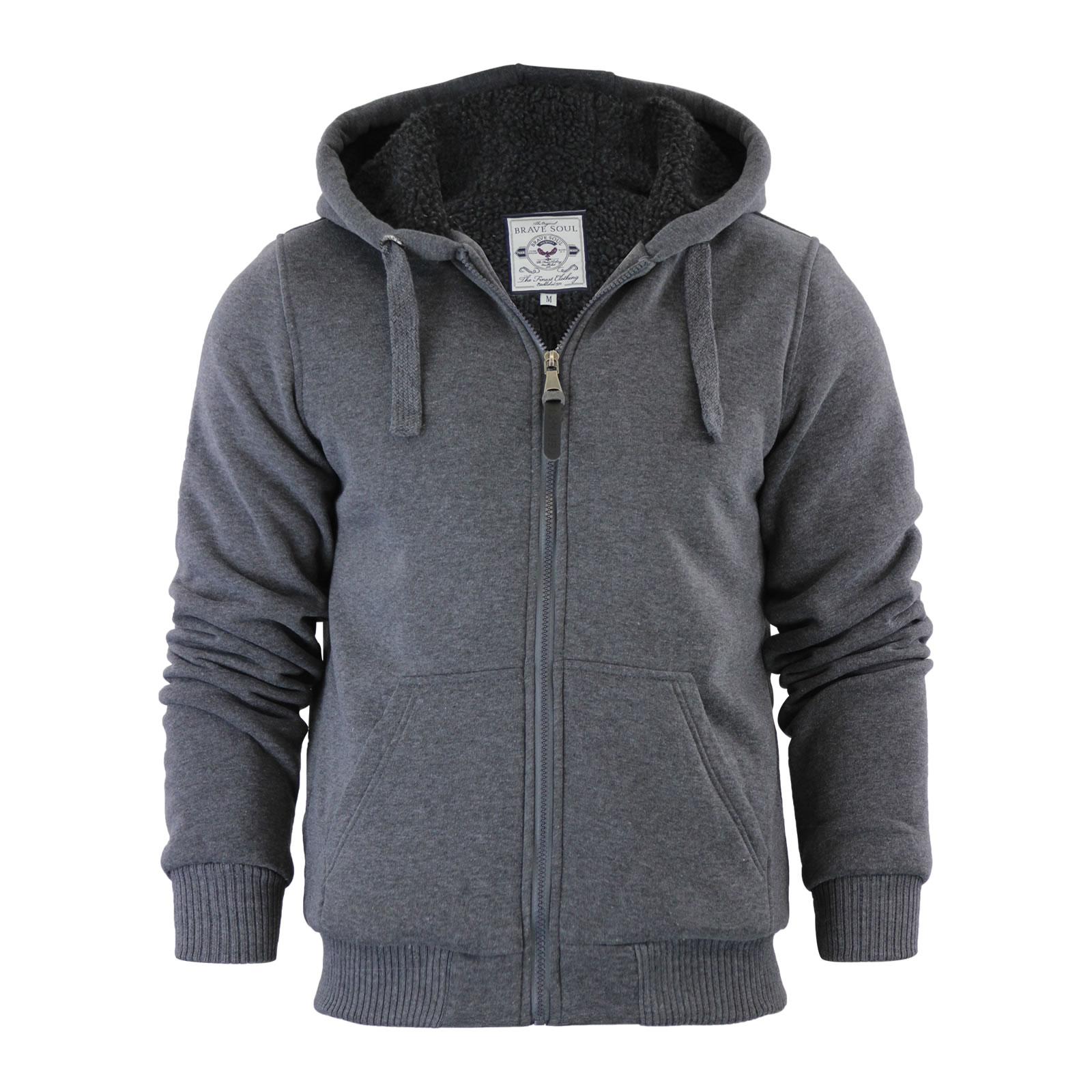 Mens sherpa lined hoodies